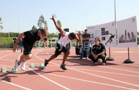 Jeremy Wariner vs Tyson Gay at Adidas Training Camp on 17 March 2009